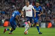 Spurs Harry Kane (10) during the The FA Cup 3rd round match between Tottenham Hotspur and AFC Wimbledon at Wembley Stadium, London, England on 7 January 2018. Photo by Robin Pope.