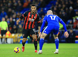 Bournemouth's Joshua King (left) in action during the Premier League match at the Cardiff City Stadium.