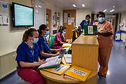 Ste0098599 . Daily Telegraph<br /> <br /> DT News<br /> <br /> Covid <br /> <br /> Staff in the North Six Covid ward at Ealing Hospital .<br /> <br /> Ealing Hospital currently has 170 Covid patients 10 of which are in the Intensive Care Unit .<br /> <br /> Ealing is a district general hospital and part of London North West University Healthcare NHS Trust, located in the Southall district of the London Borough of Ealing in West London .<br /> <br /> London 22 January 2021