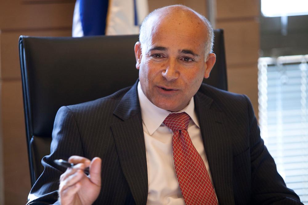 Committee chairman, Arab-Israeli lawmaker, Knesset Member Taleb el-Sana attends a session of the Committee on Drug Abuse at the Knesset, Israel's parliament in Jerusalem, on January 10, 2012.