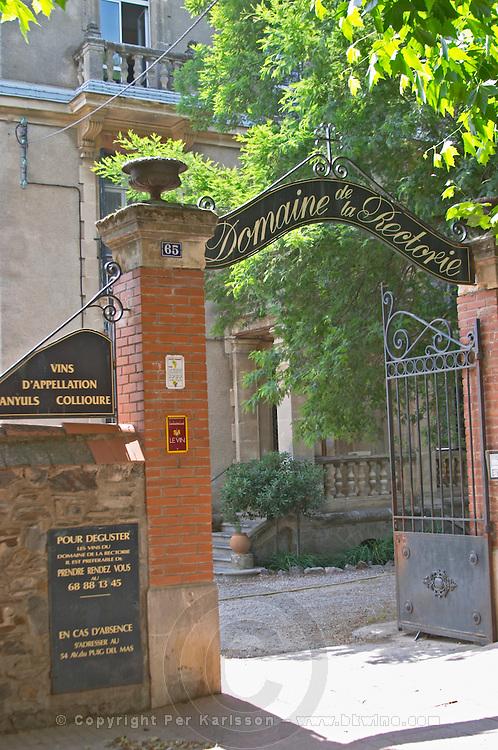 Winery building. Domaine de la Rectorie, Banyuls, Roussillon, France