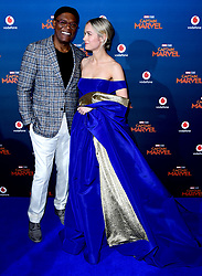 Samuel L. Jackson and Brie Larson attending the Captain Marvel European Premiere held at the Curzon Mayfair, London. Picture date: Wednesday February 27, 2019. Photo credit should read: Ian West/PA Wire