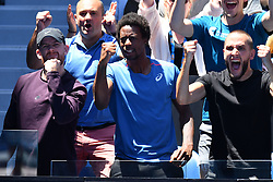 January 19, 2019 - Melbourne, AUSTRALIA - Gael Monfils watching Elina Svitolina (Credit Image: © Panoramic via ZUMA Press)