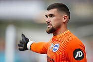 Brighton and Hove Albion goalkeeper Mathew Ryan (1) during the Premier League match between Burnley and Brighton and Hove Albion at Turf Moor, Burnley, England on 26 July 2020.