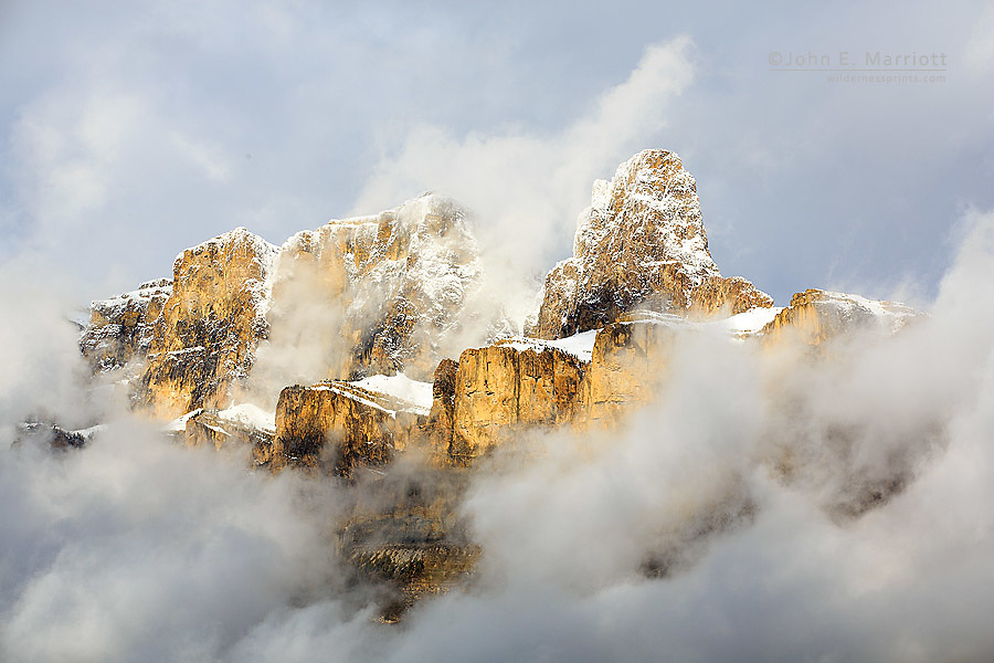 Castle Mountain, Banff National Park, Alberta, Canada in the Canadian Rockies
