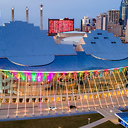 Kansas City MO, Kauffman Center for the Performing Arts, December 2020.
