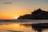 Sunset at Cape Kiwanda in Pacific City, Oregon, USA