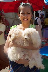 Woman With Two Dogs, Gyee Zai Market