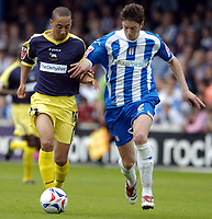 Photo: Olly Greenwood.<br />Colchester United v Derby County. Coca Cola Championship. 26/08/2006. Derbys Ryan Smith and  Colchester Uniteds Greg Halford