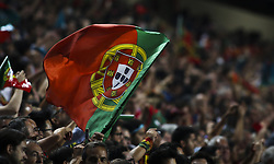 October 10, 2017 - Lisbon, Portugal - Portugal supporters waving a flag during the FIFA 2018 World Cup Qualifier match between Portugal and Switzerland at the Luz Stadium on October 10, 2017 in Lisbon, Portugal. NURPHOTO / CARLOS COSTA  (Credit Image: © Carlos Costa/NurPhoto via ZUMA Press)