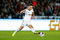 Matt Grimes of Swansea City in action - Mandatory byline: Rogan Thomson/JMP - 07966 386802 - 25/08/2015 - FOOTBALL - Liberty Stadium - Swansea, Wales - Swansea City v York City - Capital One Cup Second Round.