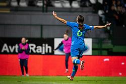 Kaja Korošec of Slovenia celebrates second goal during football match between Slovenia and Nederland in qualifying Round of Woman's qualifying for EURO 2021, on October 5, 2019 in Mestni stadion Fazanerija, Murska Sobota, Slovenia. Photo by Blaž Weindorfer / Sportida