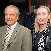 Amsterdam, 03-07-2013. Oud-Ajaxied Sjaak Swart wordt 75 jaar en krijgt een jubileumwedstrijd in het Olympisch Stadion te Amsterdam. Vele oud-Ajax gedienden waren uitgenodigd. Mr. Ajax - Sjaak Swart maakte deel uit van oud-Ajax elftal. Foto: Hennie Cruijff en partner.