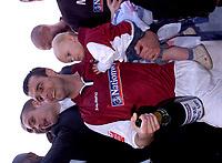 Photo: Ian Hebden.<br />Northampton Town v Chester City. Coca Cola League 2. 29/04/2006.<br />Northampton Town's Scott McGleish celebrates promotion.