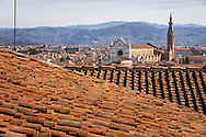 Basilica of Santa Croce in Florence in Florence, Tuscany, Italy.<br /> Picture date: Sunday February 24, 2019.<br /> Photograph by Christopher Ison ©<br /> 07544044177<br /> chris@christopherison.com<br /> www.christopherison.com