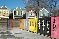 BENTONVILLE, AR - FEBRUARY 15:  Art painted on fences and walls around Bentonville, Arkansas.<br /> CREDIT Wesley Hitt for The Wall Street Journal<br /> WALMART-Bentonville Scene-setters