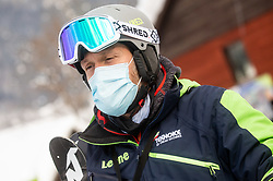 Bostjan Bozic during 2nd Run of Ladies' Giant Slalom at 57th Golden Fox event at Audi FIS Ski World Cup 2020/21, on January 17, 2021 in Podkoren, Kranjska Gora, Slovenia. Photo by Vid Ponikvar / Sportida