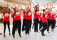 """Town of Wallkill, New York - John S. Burke Catholic High School students perform a song from """"Seussical the Musical"""" during the Orange County Arts Council's All-County High School Musical Showcase and Arts Display at the Galleria at Crystal Run on Feb. 27, 2016."""