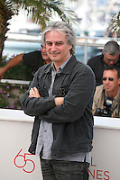 Director Gilles Bourdos at the Renoir photocall at the 65th Cannes Film Festival France. Saturday 26th May 2012 in Cannes Film Festival, France.