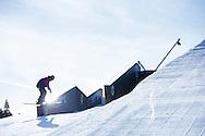 Alex Beaulieu-Marchand during Ski Slope Practice at 2014 X Games Aspen at Buttermilk Mountain in Aspen, CO. ©Brett Wilhelm/ESPN