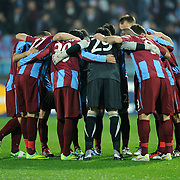 Trabzonspor's players during their UEFA Champions League group stage matchday 5 soccer match Trabzonspor between Inter at the Avni Aker Stadium at Trabzon Turkey on Tuesday, 22 November 2011. Photo by TURKPIX