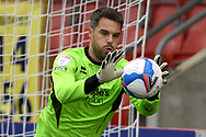 Glenn Morris (1) of Crawley Town during the EFL Sky Bet League 2 match between Cheltenham Town and Crawley Town at Jonny Rocks Stadium, Cheltenham, England on 10 October 2020.