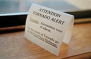 Tornado information warning sign, Tornado Alley, Oklahoma, USA