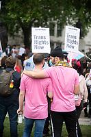 trans life matters protest parliament sq london 4th july 2020. photo by Brian Jordan