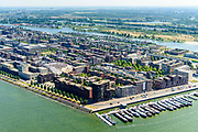 Nederland, Noord-Holland, Amsterdam, 29-06-2018; IJburg, woonwijk aangelegd op kunstmatige - aangeplemte - eilanden. Haveneiland.<br /> IJburg, residential area built on artificial islands.<br /> luchtfoto (toeslag op standard tarieven);<br /> aerial photo (additional fee required);<br /> copyright foto/photo Siebe Swart