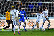 George Friend (3) of Middlesbrough clears the ball during the The FA Cup match between Newport County and Middlesbrough at Rodney Parade, Newport, Wales on 5 February 2019.
