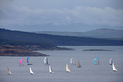 The Clyde Cruising Club's Scottish Series held on Loch Fyne by Tarbert. .Day 4 Racing with a wet Southerly to start clearing up for the last race...The last race classes IRC 1 and CYCA 5