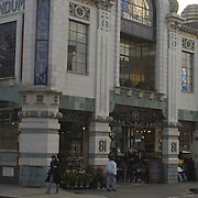 Bibendum Restaurant, in the former headquarters of the Michelin Tyre Co,London, exterior.