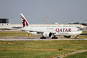 Qatar Airways Cargo Boeing 777-FDZ (A7-BFD) ready for takeoff at Milan - Malpensa (MXP / LIMC) Italy