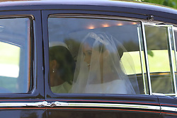 Meghan Markle leaves the Cliveden House Hotel, accompanied by her mother, Ms Doria Ragland, ahead of her wedding to Prince Harry at St George's Chapel at Windsor Castle.