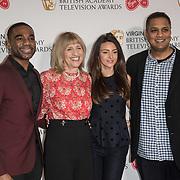 Ore Oduba, Jane Lush, Michelle Keegan and Krishnendu Majumdar attend the Virgin TV BAFTA TV Nominations Press Conference, London, UK - 04 April 2018 at BAFTA, Piccadilly, London, UK.