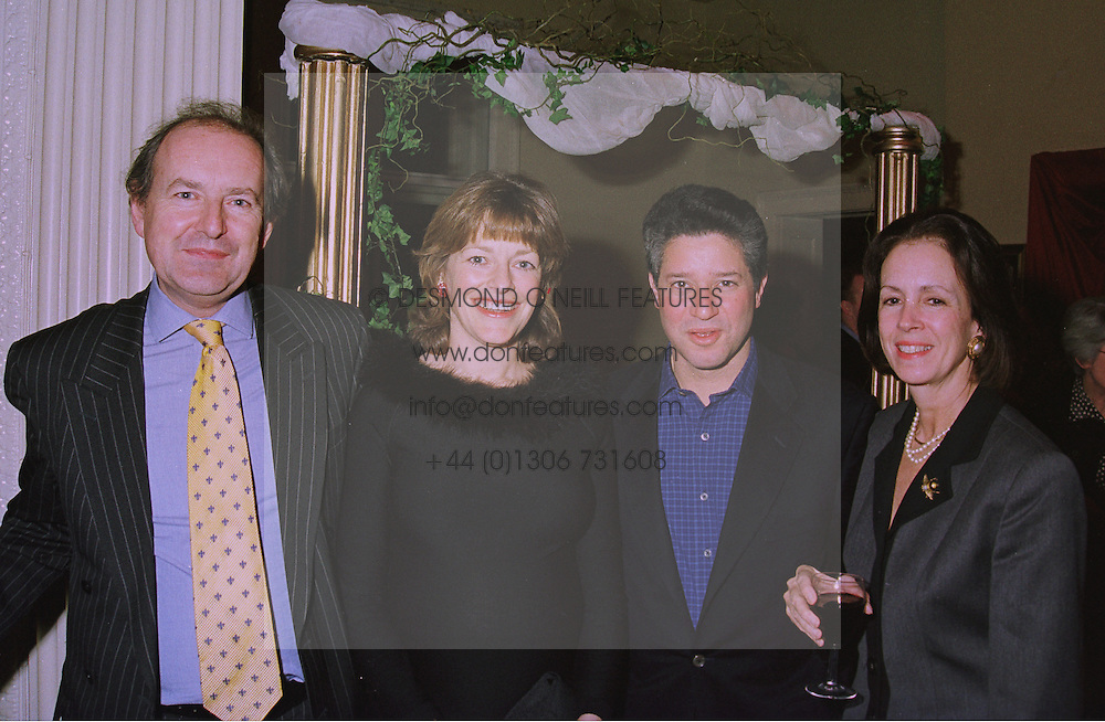 Left to right, the HON.MICHAEL PAKENHAM, son of the Earl of Longford, the HON.FLORA SOROS, daughter of the Earl of Longford, her husband MR PETER SOROS and MRS MICHAEL PAKENHAM at a party in London on 5th December 1997.MEC 34