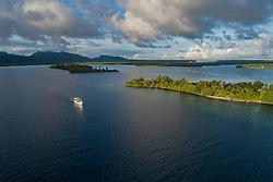 Luftbildaufnahme von Karumolun Island, Russell Islands, Salomonen, Salomon See, Salomonensee / Aerial View from Karumolun Island, Russell Islands, Solomons, Solomon Sea