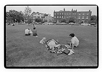 Picnic in the Blackheath area, London, 1982. South-East London, 1982