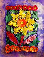 box of  summer flowers