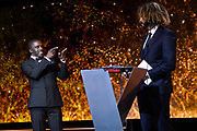 Brussels , 01/02/2020 : Les Magritte du Cinema . The Academie Andre Delvaux and the RTBF, producer and TV channel , present the 10th Ceremony of the Magritte Awards at the Square in Brussels .<br /> Pix: Adil El Arbi; Kody , dressed by Maison Degand<br /> Credit : Alexis Haulot - Dana Le Lardic - Didier Bauwerarts - Frédéric Sierakowski - Olivier Polet / Isopix