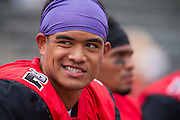 Community College of San Francisco wide receiver Ricky Teo (2) hangs out on the sideline during a game against College of Siskiyous at Community College of San Francisco in San Francisco, Calif., on September 10, 2016. (Stan Olszewski/Special to S.F. Examiner)