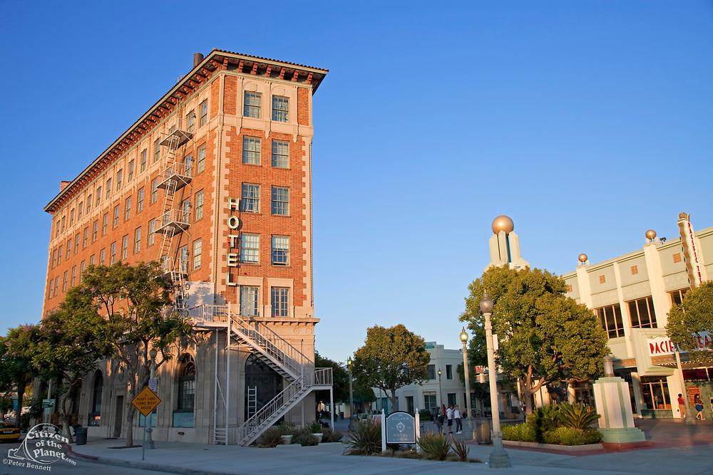 Culver Hotel in downtown Culver City, Culver Blvd, Los Angeles, California, USA