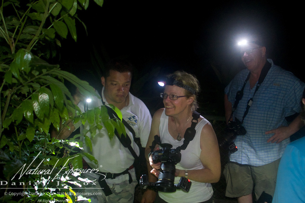 Christine and Paul during one of our night sessions for macro photography. Costa rRca.