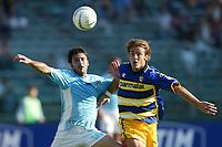 Roma 21/9/2003<br />Lazio Parma<br />Stefano Fiore (Lazio) e Alberto Gilardino (Parma)<br /><br />Foto Graffiti