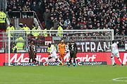 Fussball: 2. Bundesliga, FC St. Pauli - Holstein Kiel, Hamburg, 28.10.2018<br /> Kiel erzielt das 0:1<br /> © Torsten Helmke