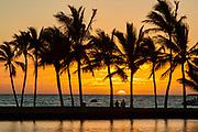 Sunset along the Kona Coast.
