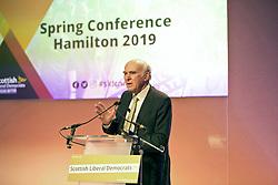 Lib Dem Vince Cable at Scottish Lib Dem Conference at Hamilton Town House. Pic copyright Terry Murden @edinburghelitemedia