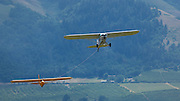 1935 Franklin Glider PS-2 being towed into the air at WAAAM.