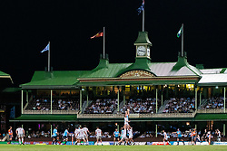 March 23, 2019 - Sydney, NSW, U.S. - SYDNEY, NSW - MARCH 23: Line-out in front of The Members Stand at round 6 of Super Rugby between NSW Waratahs and Crusaders on March 23, 2019 at The Sydney Cricket Ground, NSW. (Photo by Speed Media/Icon Sportswire) (Credit Image: © Speed Media/Icon SMI via ZUMA Press)