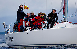 Largs Regatta Week 2017 <br /> <br /> Day 1, <br /> GBR8543R, Jings, Robin Young, CCC, J109<br /> <br /> Picture Marc Turner